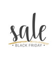 handwritten lettering of black friday sale vector image
