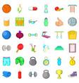 health icons set cartoon style vector image vector image