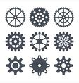 Icons cogwheel vector image vector image