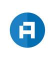 initial letter a icon alphabet a logo icon vector image vector image