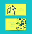 isometric gym objects for gym vector image vector image