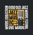 jazz music poster with microphone in modern style vector image