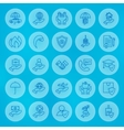 Line Circle Business Insurance Icons Set vector image vector image