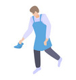 man from cleaning service icon isometric style vector image vector image