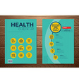 Medical and health check up book cover vector image