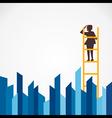 men on ladder find vector image