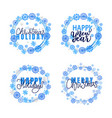 merry christmas happy new year festive greetings vector image vector image