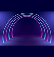 neon round gate background vector image vector image