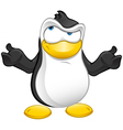 Penguin Mascot Confused vector image vector image
