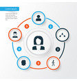 people icons set collection of network vector image vector image