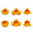 receiving achievement templates golden vector image vector image