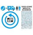 Refresh Calendar Icon with 1000 Medical Business vector image