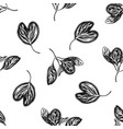 seamless pattern with black and white iresine vector image vector image