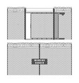 security fence and gate vector image