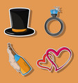 set of party cartoons vector image