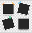 set of template retro frame photo vector image