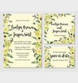 set wedding invitation greeting card save vector image vector image