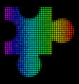 spectral colored dotted plugin icon vector image