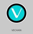 vechain icon of 3 types color black and white vector image