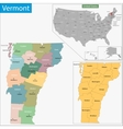 Vermont map vector image vector image