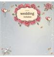 wedding invitation card for your text on a gray vector image vector image