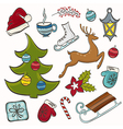 Winter set for design vector image vector image