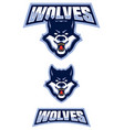 wolf mascot symbol vector image vector image