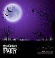 Happy Halloween scary on purple background vector image