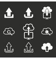 Upload icon set vector image