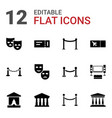 12 theater icons vector image vector image