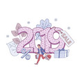2019 new year and christmas vector image vector image