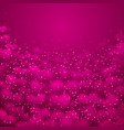 a big pink heart made of small hearts placed vector image vector image