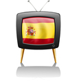 a tv with flag spain vector image
