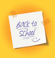 back to school message vector image vector image