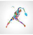badminton player abstract eps vector image vector image