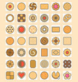 big set of cookies vector image