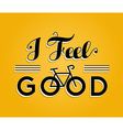 bike concept bicycle retro poster feel good vector image