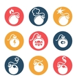 Bombs flat icons set vector image vector image
