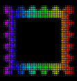 bright dotted postage stamp icon vector image