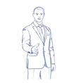 businessman handshake gesturing vector image