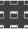 Calendar web icon flat design Seamless pattern vector image vector image