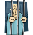 Cartoon of jailed man vector | Price: 1 Credit (USD $1)