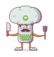 champignon character with cooker hat vector image