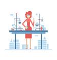 chemistry teacher - modern flat design style vector image
