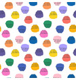 colorful seamless pattern with brush blots vector image vector image