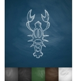 crayfish icon vector image vector image