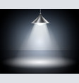 dark background with spotlights studio vector image vector image