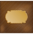 Dark striped background with golden frame for your vector image