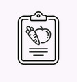 diet line icon on white background vector image