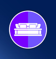 double bed icon button logo symbol concept vector image